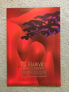 Original PJ Harvey Ben Harper Concert Poster BGP131 Warfield 1995 San Francisco
