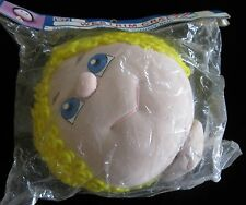 WESTRIM CRAFTS DOLL HEAD WITH SHORT YELLOW YARN HAIR AND BLUE EYES 2179H NEW!