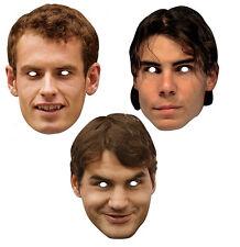 Tennis Joueurs Ensemble de 3 2D Officiel CARTE Masques De Visage De Fête Murray