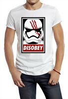 DISOBEY TROOPER T-SHIRT STAR WARS TROOPER HELMET OBEY RETRO POSTER WHITE YOLO