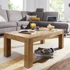 Massiver Couchtisch PATAN 110 x 60 cm Akazie Holz Tisch Massiv Wohnzimmertisch