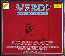 Claudio Abbado: Verdi Requiem Jose Carreras Cheryl Studer Lipovsek Raimondi 2cd