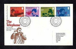 GR BRIT STAMPS #777-780 FDC TELEPHONE 1976