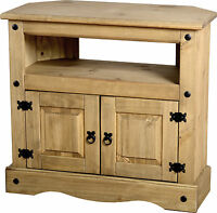 MEXICAN PINE CORONA TV / DVD CORNER UNIT / CABINET *FREE NEXT DAY DELIVERY
