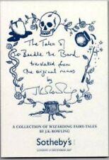Beedle Bard Sotheby's Catalogue Catalog - Harry Potter