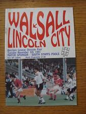 05/11/1991 Walsall v Lincoln City  (No Apparent Faults)