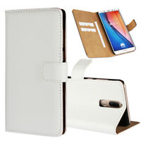 Genuine Leather Flip Wallet Case Cover For Huawei Mate 10 lite