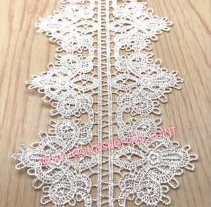 H273 1Yd Crochet Lace Trim Ribbon Wedding Applique Dress Sewing table runner