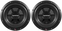 Pair Rockford Fosgate R2SD2-10 800W Peak 400W RMS Dual 2 Ohm Car Subwoofers Subs