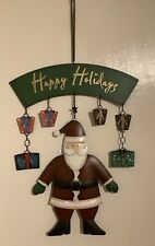 "Hanging ""Happy Holidays"" Father Christmas Decoration"