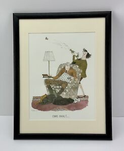 Annie Tempest - Tottering By Gently Signed & Framed Cork Over !! Limited Edition