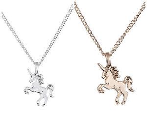 Halskette Anhänger Einhorn magisch mystisch Fabel gold, silber Geschenk  MOTIV 1