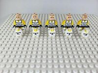 Star Wars Yellow Clone Troopers Minifigures Army Lot of 5 - USA SELLER