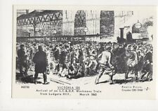 Victoria Station Arrival of Workmens Train 1865 Repro Postcard 855a