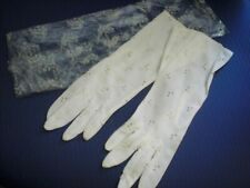 Vintage Kayser Eyelet Long White gloves size S In Original Bag