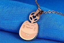 Japanese Beckoning Lucky Plutus Cat Maneki Neko Stainless Steel Pendant Necklace