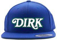 Blue Dirk Nowitzki Dallas Mavericks Dirk Text Snapback Hat
