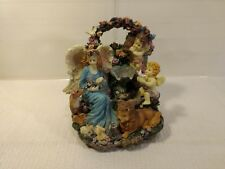 "Musical 7"" Water Fountain Garden Angels & Animals Desktop Decoration hd749"