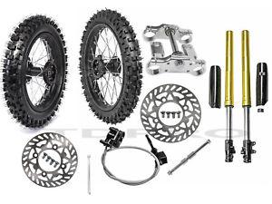 80/100-12 60/100-14 Tire Rim Front Fork Triple Tree Assembly CRF50 SSR125 KLX110