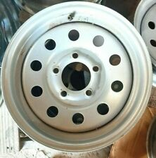 "15"" 5 LUG TRAILER WHEEL WHITE  5-LUG ON 4.5 INCHES - circle"