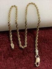 10 kt yellow gold 1.4 Grams rope bracelets Lobster Lock 2mm