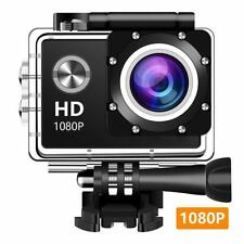 Wewdigi EV4000 Action Camera, 12MP 1080P 2 Inch LCD Screen, Waterproof 30M