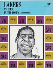 1968 Los Angeles Lakers Vs Philadelphia 76ers In The Forum Official NBA Program