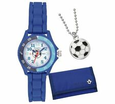 TNP ATK1005 Tikkers Boys Blue Football Watch Set in Wallet