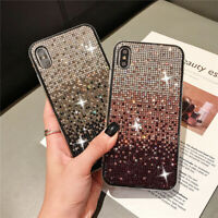 For iPhone 8 7 X XR XS MAX Luxury Bling Glitter Phone Case Cover Crystal Diamond