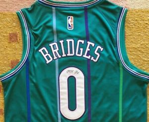 Miles Bridges Signed Autograph Charlotte Hornets Jersey MSU NCAA NBA PROOF