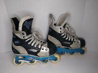 Vintage BAUER VAPOR XL Inline Hockey Skates TUUK Shifter XL US M 4EE Size US L 6