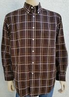 Turnbury Mens size Large Long Sleeve shirt brown 100% cotton