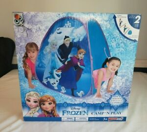 NEW Disney Elsa Anna Olaf Frozen Play Tent Camp N' Play Playhut Next 3+