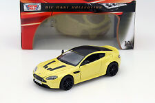 Aston Martin V12 Vantage S gelb 1:24 MotorMax