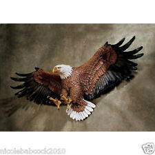 """31"""" Flying Freedom's American Spirit Hand Painted BALD Eagle Wall Sculpture"""