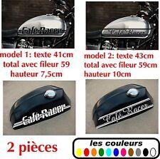 2x Stickers autocollant réservoir moto café racer / bobbers