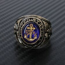 US United States USN Navy Style Metal Retro Honor Ring-US212