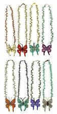 Monarch Butterfly Crystal Artisan Beads Necklace Lot Wholesale Six Pack Sanyork