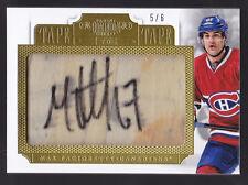 13-14 Dominion Max Pacioretty /6 Auto Tape To Tape Canadiens 2013
