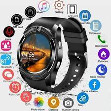 V8 смарт-часы Bluetooth сенсорный экран Sim телефон и фотоаппарат трекер для Android/iOS