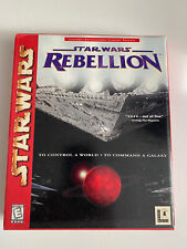 STAR WARS REBELLION*CD ROM BIG BOX GAME+ Strategy Guide Book*Tested & Works*
