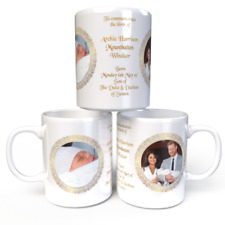Harry & Meghan Royal Baby Archie Harrison Mountbatten Windsor Coffee Mug Cup
