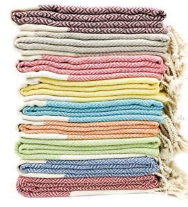 Set of 10 Soft Large Quick Dry 100% Turkish Cotton Beach Bath Lounge Spa Towel