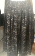 ADRIANNA PAPELL FANCY EVENT BLACK LACE SKIRT SIZE 10-DROP WAIST FLATTERING! MINT