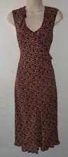 LAURA ASHLEY frill front floral dress UK 10 12 US 8 10 EU 38 40 vintage