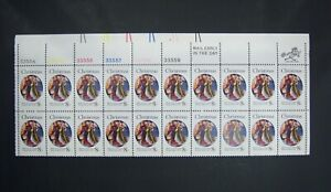 US Postage Stamp strip of 20, 8 cent Christmas, Plate/ Zip Block SC# 1471