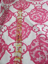 "Robyn Randolph Free Spirit Large scael cotton fabric 27"" x 42"" fuschia green"