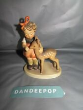 M.I. Hummel Girl With Deer Friends 1947 TMK4 W. Goebel W. Germany Figurine 136/1