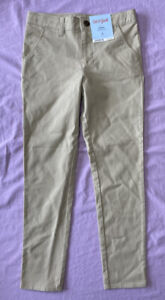 Cat & Jack Boys' Flat Front Stretch Uniform Skinny Fit Pants Khaki Size 6X