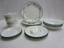 Corelle Callaway 20 Piece Set Service for 4 Green Ivy